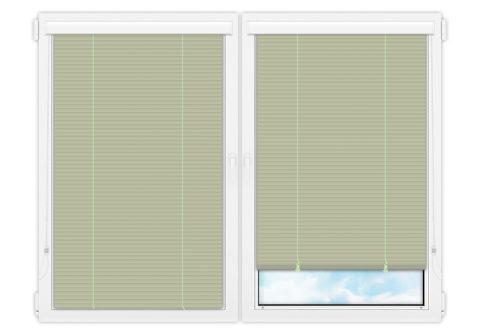 Жалюзи Изолайт 25 мм на пластиковые окна - цвет бледно-зеленый