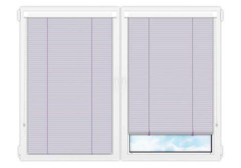 Жалюзи Изотра 25 мм на пластиковые окна - цвет бледно-лиловый